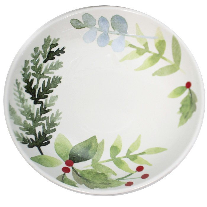 """Tabletop 13.25"""" Winter Berry Serving Bowl Christmas Holly Berry Park Designs - Serving Bowls : Target"""