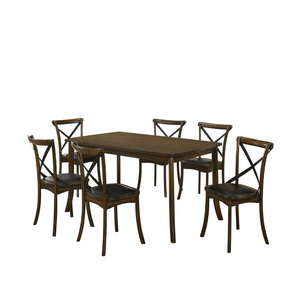Coupons 7pc Somers Dining Set Oak - HOMES: Inside + Out
