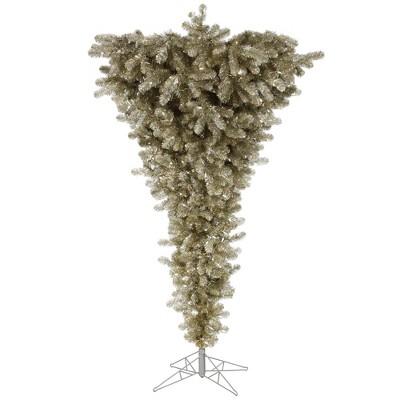 Vickerman Champagne Upside Down Artificial Christmas Tree