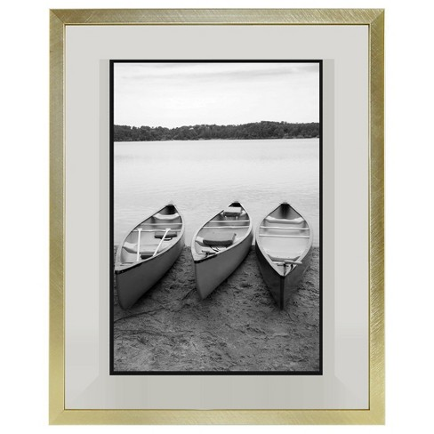"8""x10"" Metal Single Image Float Frame Brass - Project 62™ - image 1 of 5"
