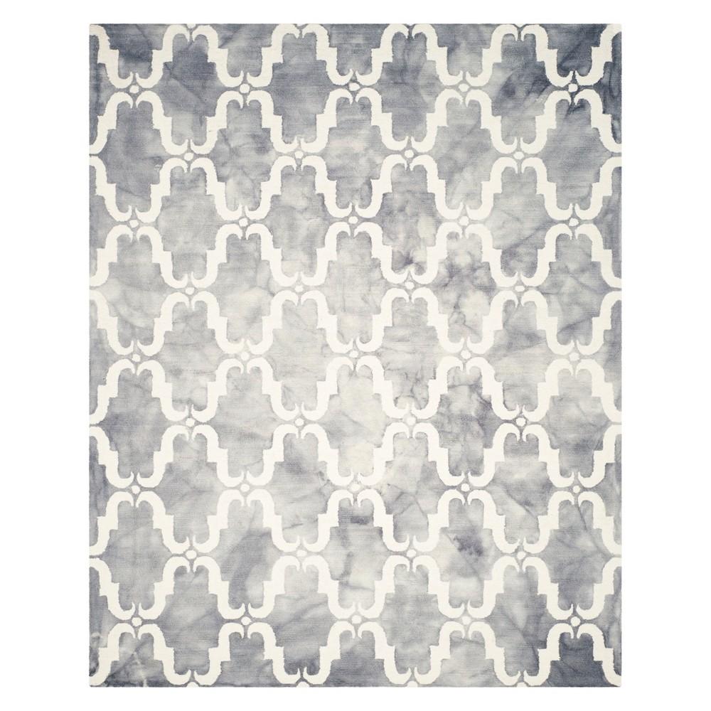 8'X10' Quatrefoil Design Area Rug Gray/Ivory - Safavieh