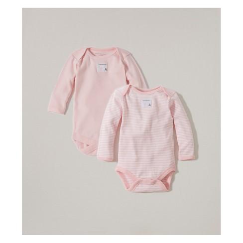 Burt's Bees Baby® Organic Cotton 2pk Long Sleeve Bodysuit Set - Blossom - image 1 of 2