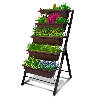 Outland Living 4-Ft Vertical Raised Garden Bed - 5 Tier Food Safe Planter Box for Outdoor and Indoor Gardening