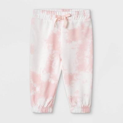 Grayson Mini Baby Girls' Tie-Dye Pull-On Pants - Pink 3-6M