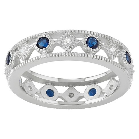 4/5 CT. T.W. Round-cut CZ Pave Set Fashion Band in Sterling Silver - image 1 of 2