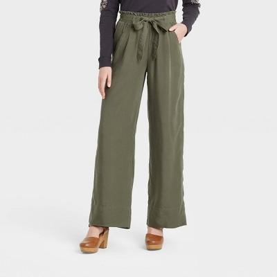 Women's Mid-Rise Tie-Waist Wide Leg Pants - Knox Rose™