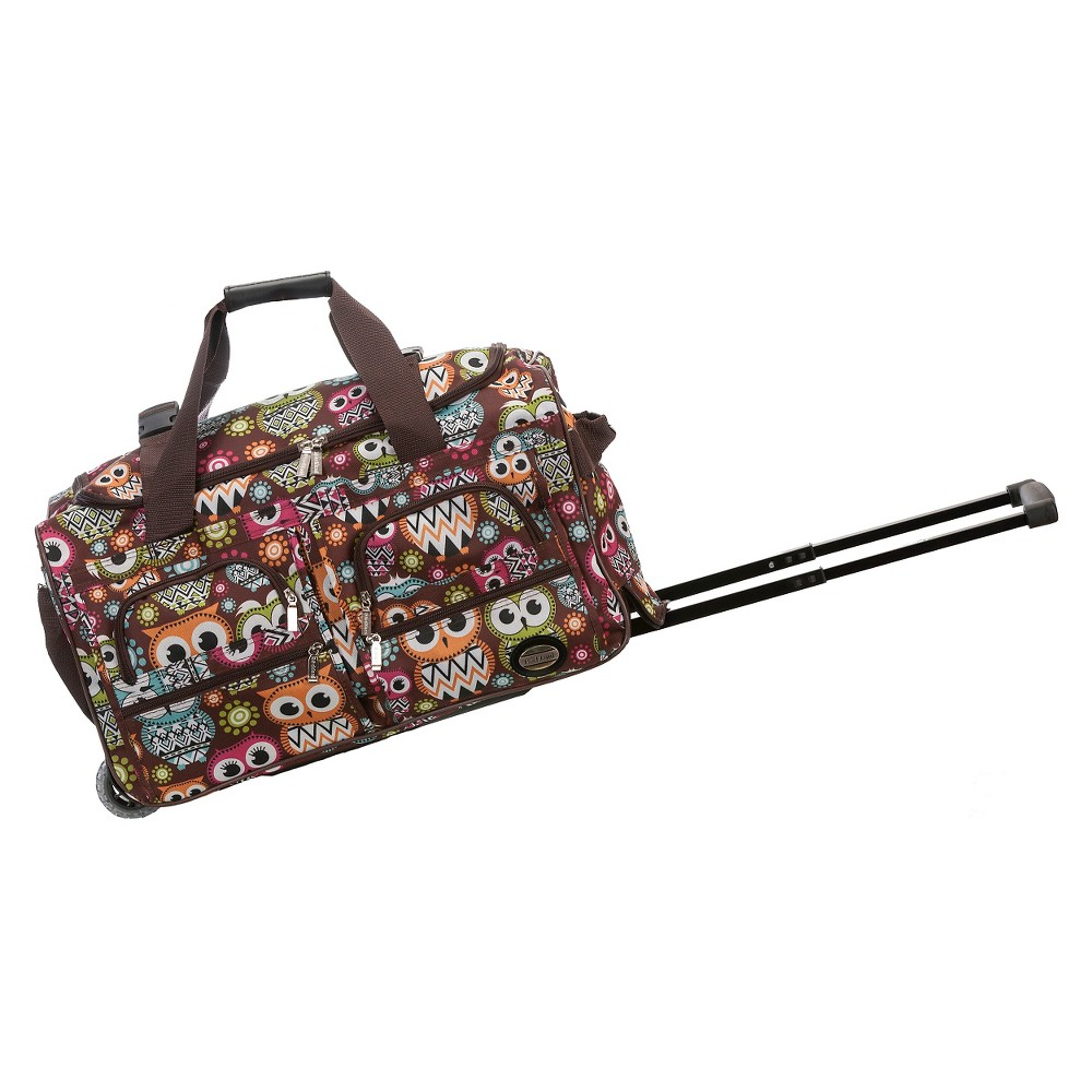 Rockland Rolling Duffle Bag - Owl (22), Multi-Colored