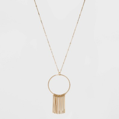 Bars with Pendant Necklace - A New Day™ Gold