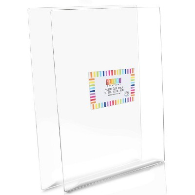 Bright Creations 2 Pack Clear Acrylic Tracing Board Sheet Set, Arts and Crafts (9 x 12 in)