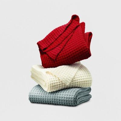 60 x50  Chenille Throw Blanket Cream - Threshold™