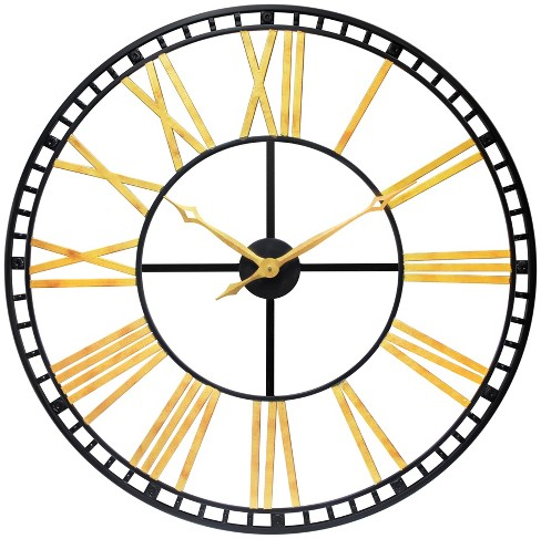 Infinity Instruments The Tower Large Wall Clock Black - image 1 of 7
