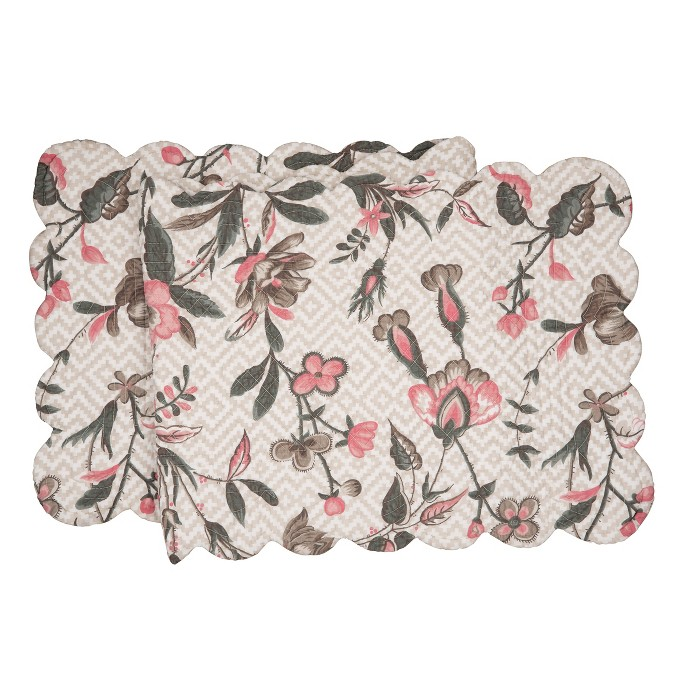 """C&F Home 14"""" X 51"""" Blair Garden Cotton Quilted Reversible Table Runner 14x51 : Target"""