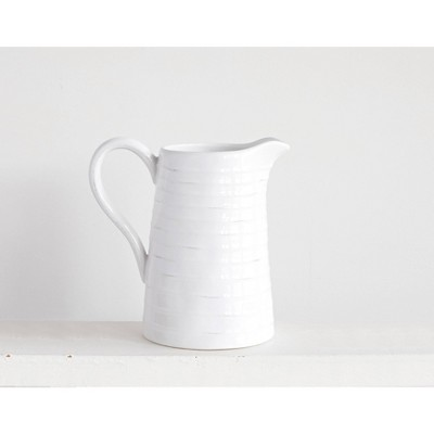 Ceramic Pitcher - White - 3R Studios