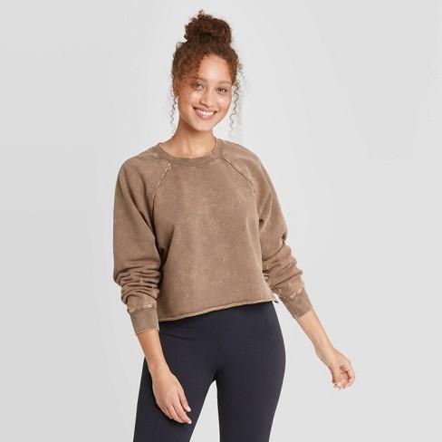 Women's French Terry Acid Wash Pullover Sweatshirt - JoyLab™ - image 1 of 2