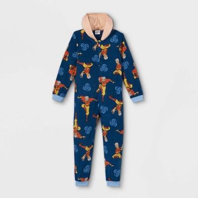 Boys' Avatar: The Last Airbender Blanket Sleeper Union Suit - Blue