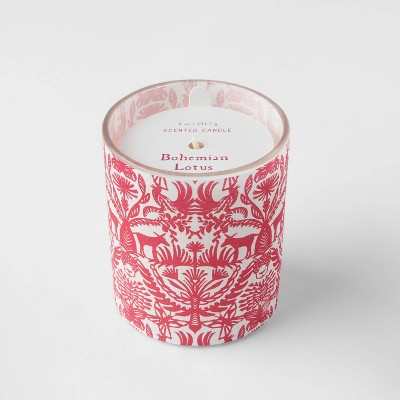 5oz Global Paper Wrapped Glass Bohemian Lotus Candle - Opalhouse™