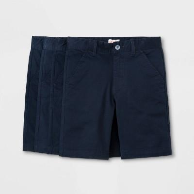 Boys' 4pk Flat Front Stretch Uniform Shorts - Cat & Jack™ Navy