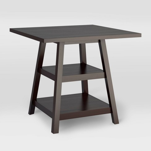 """Bistro 36"""" Counter Height Dining Table with Shelves Wood/Cappuccino - CorLiving - image 1 of 4"""