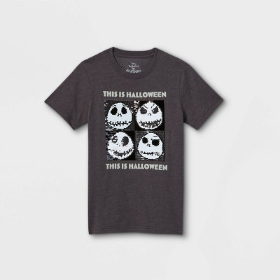 Boys' Disney Jack This is Halloween Short Sleeve Graphic T-Shirt - Charcoal Gray