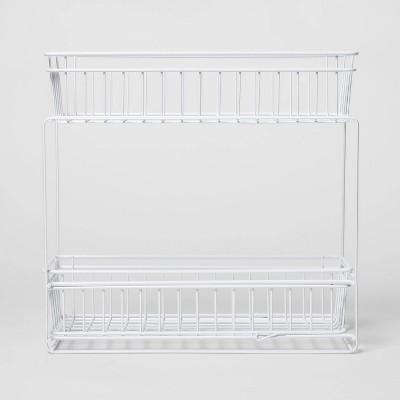2 Tier Slide Out Storage Rack Slim White - Threshold™