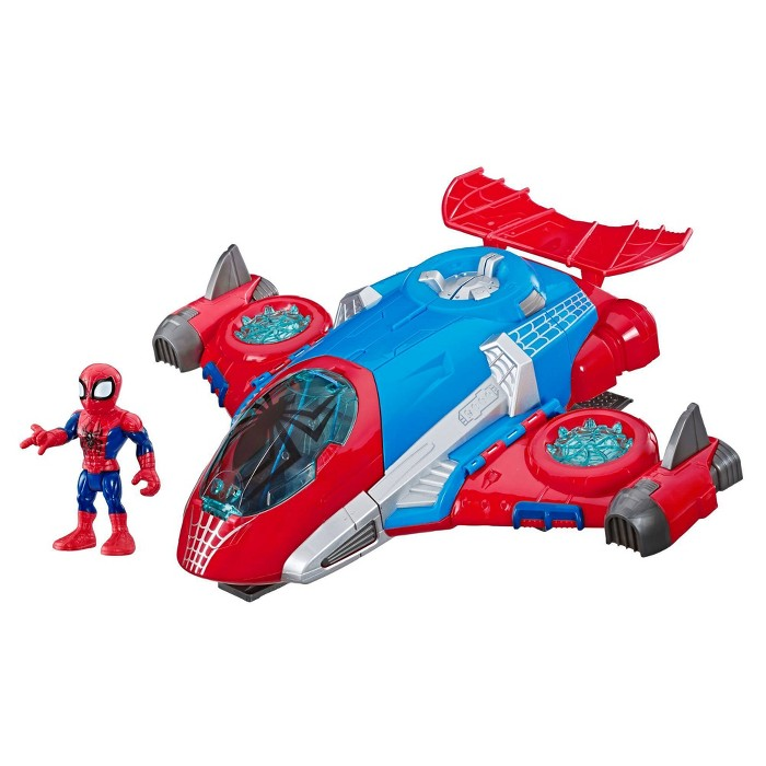 Playskool Heroes Marvel Super Hero Adventures Spider-Man Jetquarters - image 1 of 10