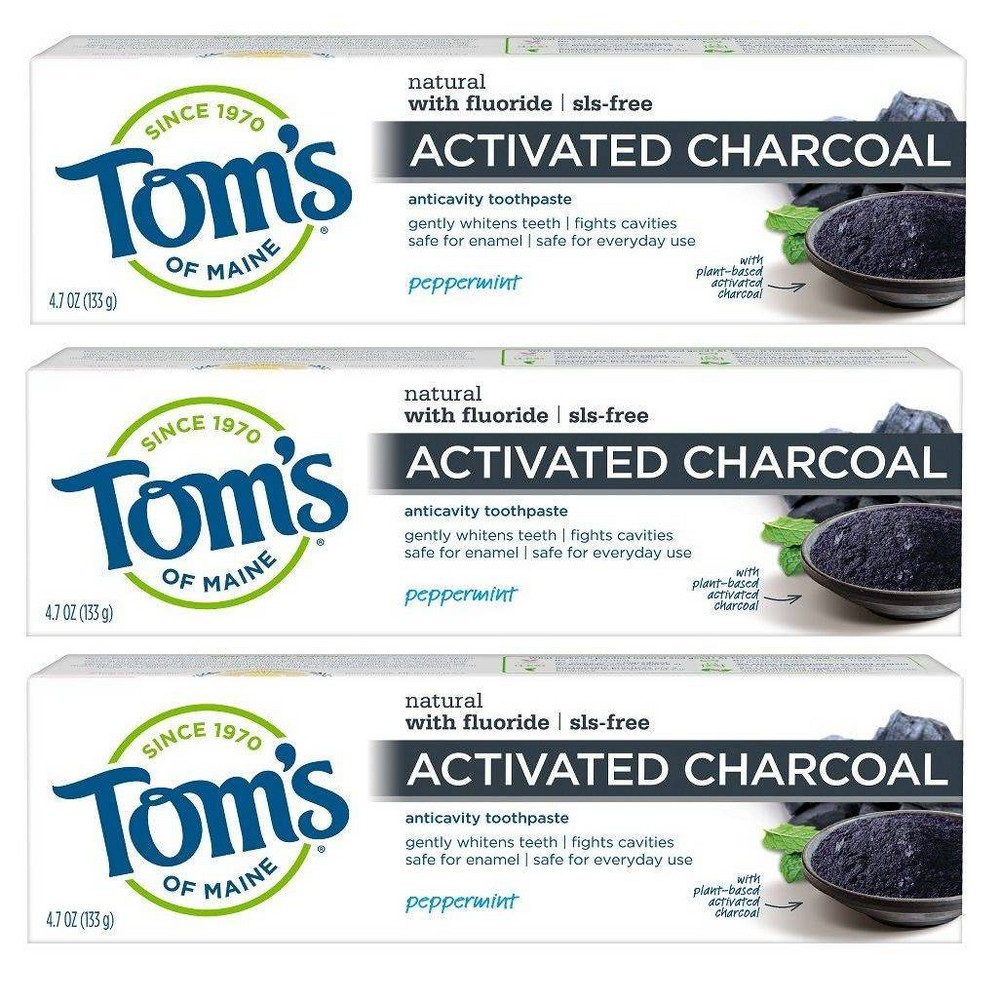 Image of Tom's Of Maine Anti-cavity Toothpaste Charcoal - 3pk