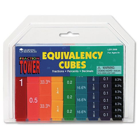 Learning Resources Fraction Tower Activity Set, Math Manipulatives, for Grades 1-6 - image 1 of 1