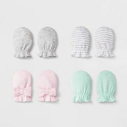 Baby Girls' 4pk Mittens - Cloud Island™ Pink One Size