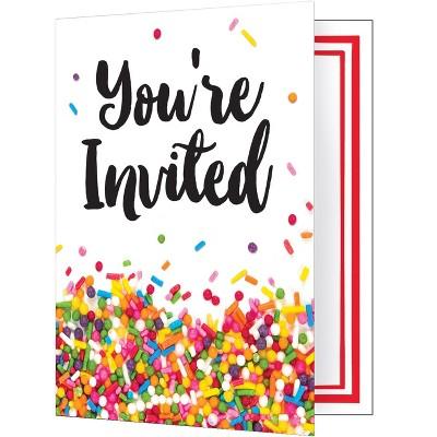 8ct Confetti Sprinkles Invitations