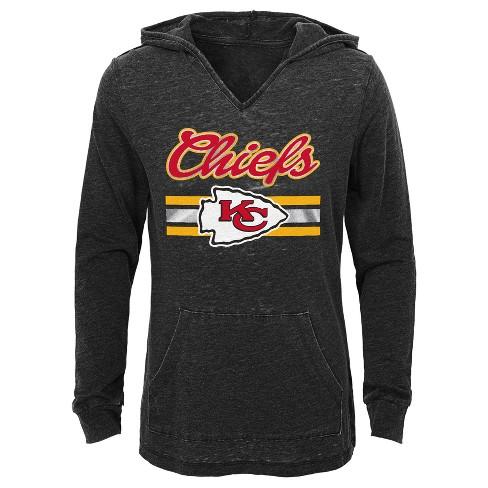 852853dc6 Kansas City Chiefs Girls  Game Time Gray Burnout Hoodie S   Target