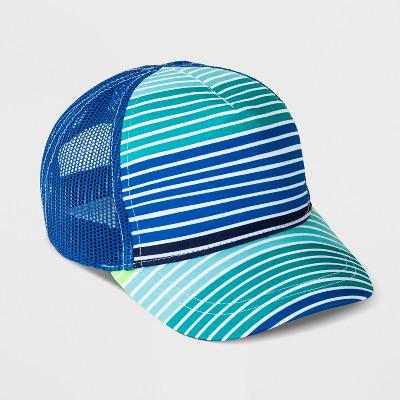 Baby Boys' Stripe Baseball Hat - Cat & Jack™ Blue 6-12M