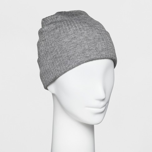 f547864c75a Women s Ribbed Cuff Beanie - A New Day™ Gray   Target