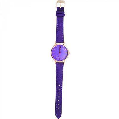 Olivia Pratt Fabric Strap Fashion Watch W/ Rose Dial