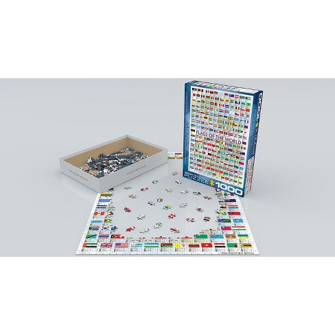 Eurographics Inc. Flags of the World  1000 Piece Jigsaw Puzzle - image 1 of 4