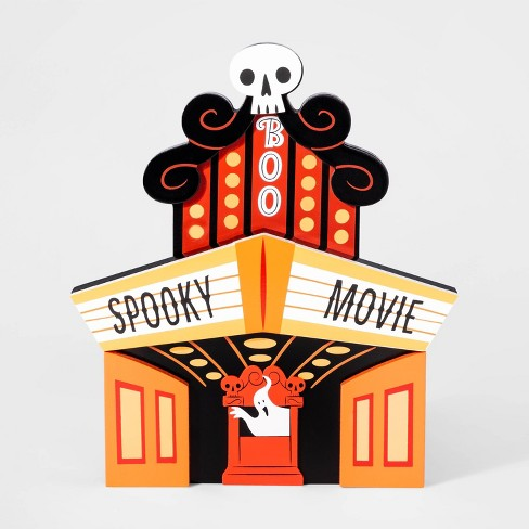 Mini Mantle Spooky Movie Theater Halloween Dcor - Hyde & EEK! Boutique™ - image 1 of 1