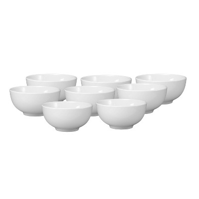 Oneida® Chef's Table Porcelain Dessert Bowls 14oz White - Set of 8