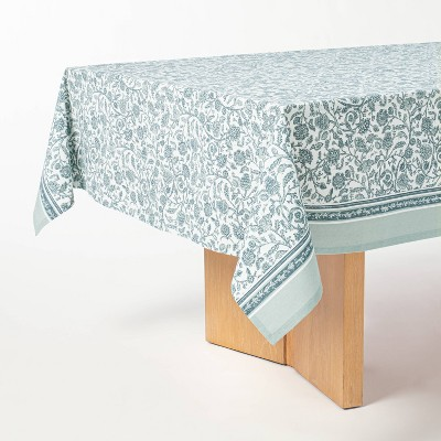 """84"""" x 60"""" Cotton Floral Tablecloth - Threshold™ designed with Studio McGee"""