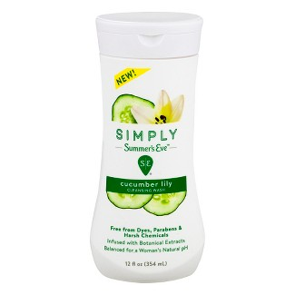 Simply Summers Eve Cucumber Lily Cleansing Wash - 12 fl oz