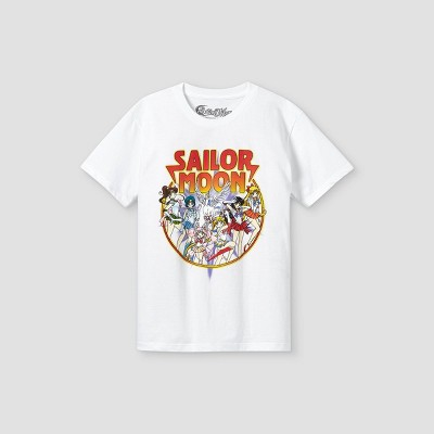 Boys' Sailor Moon Short Sleeve Graphic T-Shirt - White