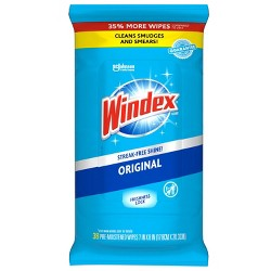 Windex Blue Wipes 35% More Pack - 38ct