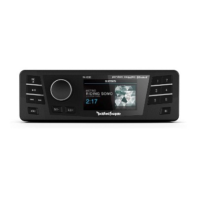 Rockford Fosgate Bluetooth Wireless Digital Media Receiver with USB Charging Port for Harley Davidson Street, Road, and Electra Glide Motorcycle