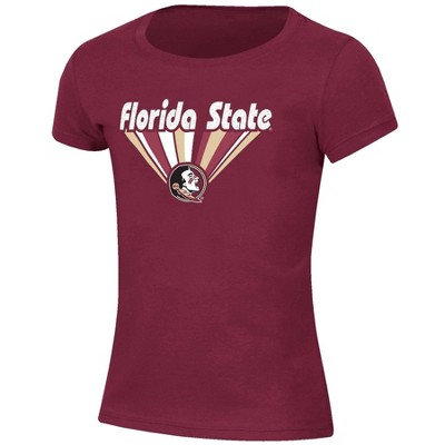 NCAA Florida State Seminoles Girls' Short Sleeve Scoop Neck T-Shirt
