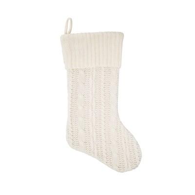 C&F Home Ivory Knit Stocking