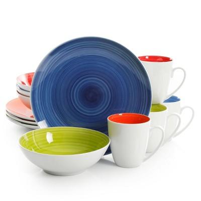 Gibson Home 12pc Ceramic Crenshaw Dinnerware Set