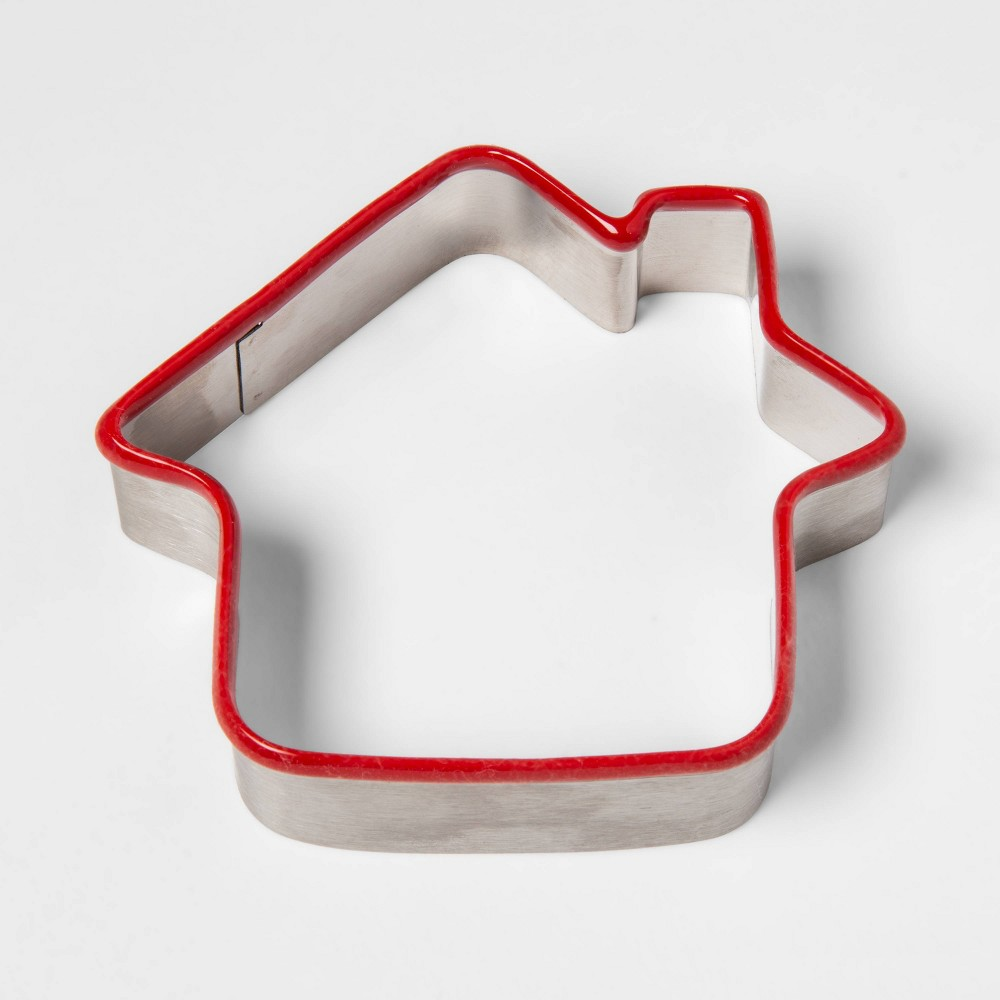 Image of Stainless Steel Holiday Gingerbread House Cookie Cutter - Threshold