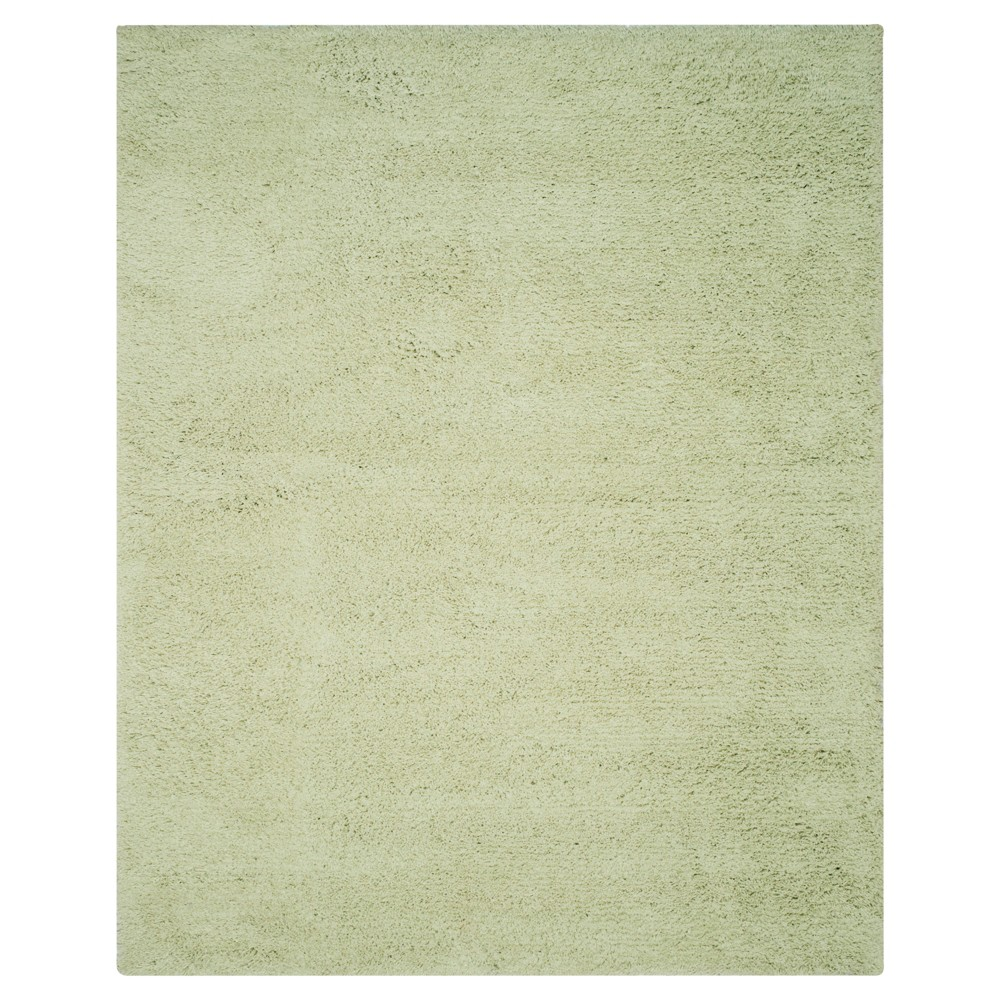 Lime (Green) Solid Shag and Flokati Tufted Area Rug 7'6