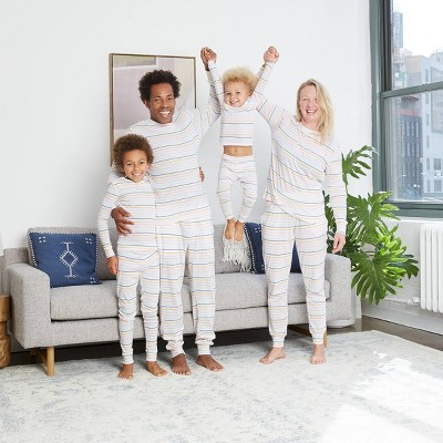 Pastel Striped Matching Family Pajamas Collection