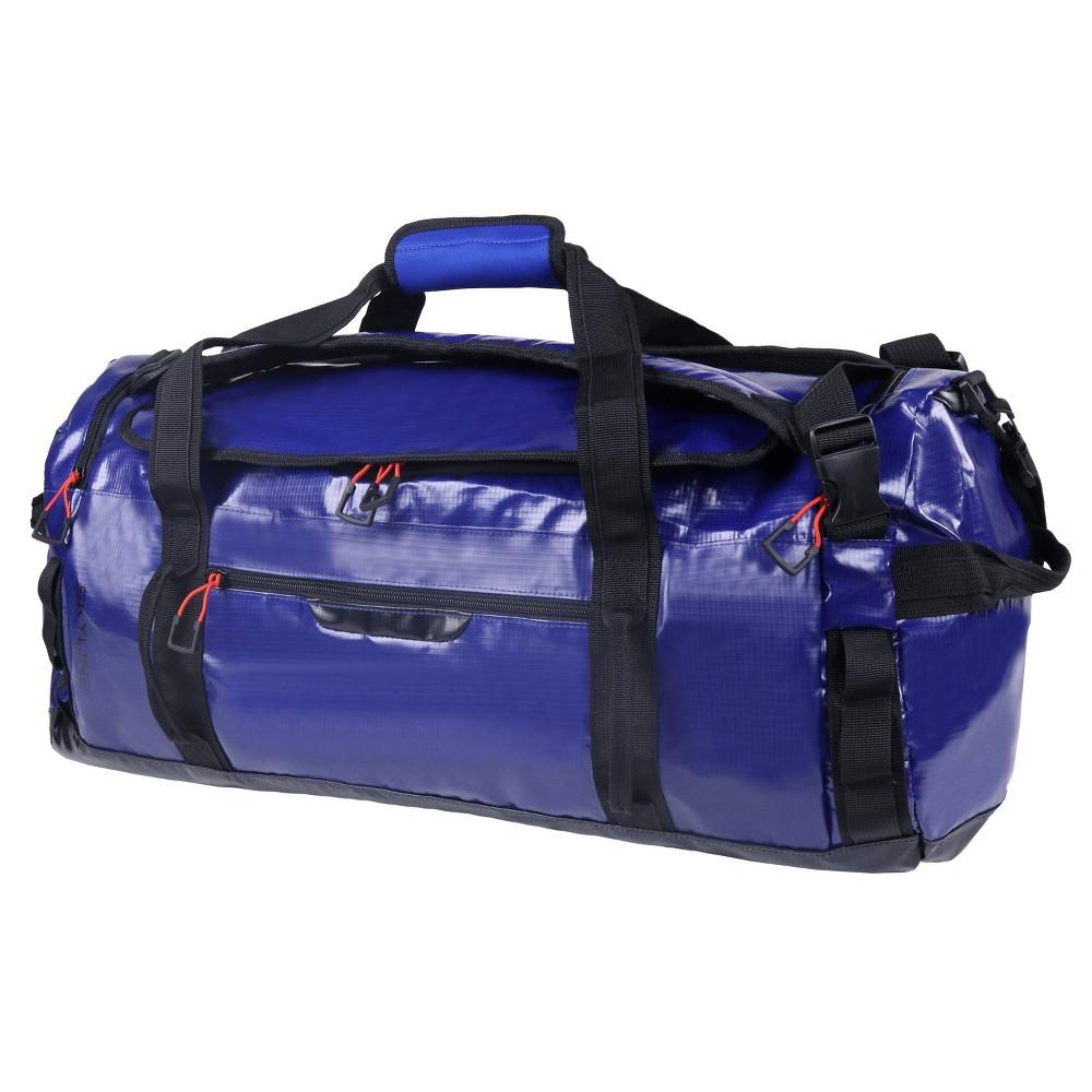 "Image of ""Skyline 24"""" Round Duffel Backpack - Coated Premium Blue"""