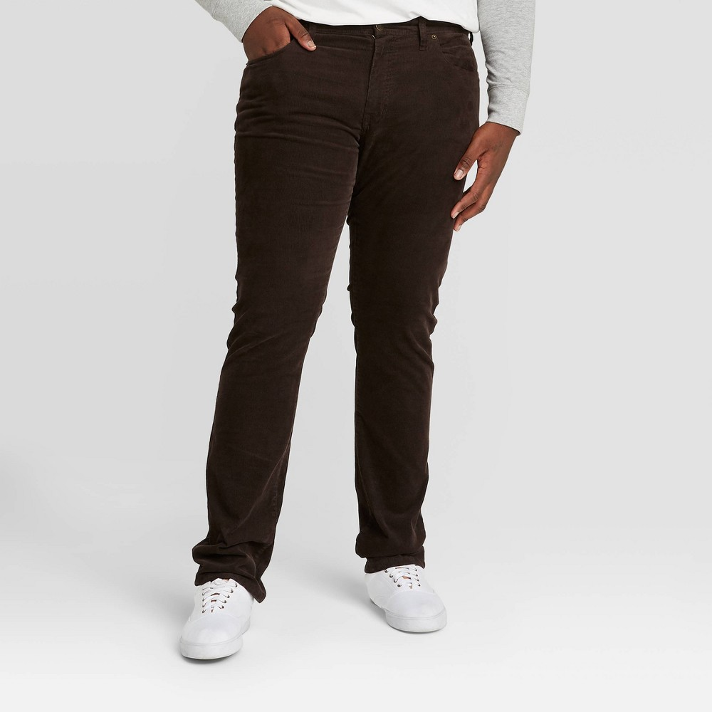 Men 39 S Big 38 Tall Slim Fit Corduroy 5 Pocket Pants Goodfellow 38 Co 8482 Natures Brown 48x32