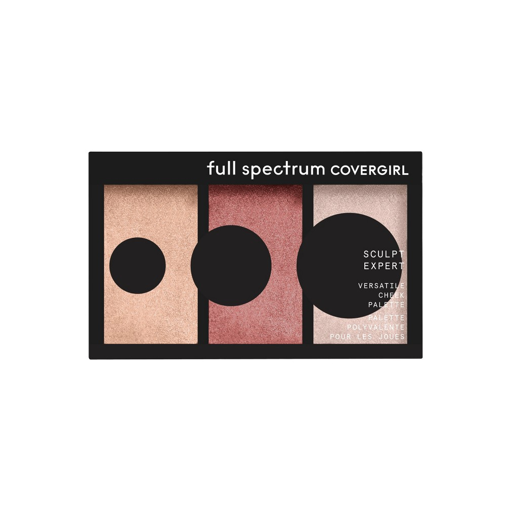 Covergirl Sculpt Expert Multiuse Cheek Palette Bronze Flame - 0.22oz